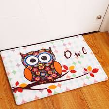 Owl Kitchen Rugs Remarkable Aliexpress Buy New Anti Slip Carpets Animal Owl Print