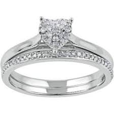 Walmart Wedding Rings Sets For Him And Her by His And Her Heart Wedding Rings Set Interlocking Hearts Engraved
