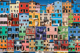colorful building collage of colorful buildings rf stock photo 52has0067rf