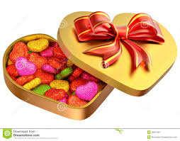 s day candy candy in a box as a gift for s day stock image image