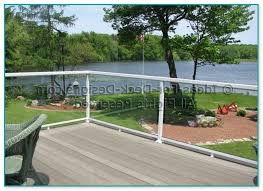 deck railing with glass panels