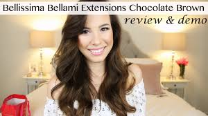 bellissima hair extensions bellami bellissima chocolate brown extensions review demo