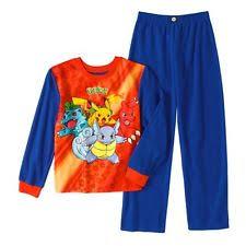 pokémon pajama sets sizes 4 up for boys ebay