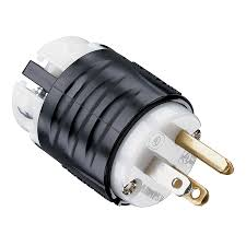 shop legrand 15 amp 125 volt black 3 wire grounding plug at lowes com