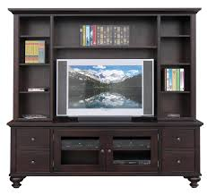 84 inch console with hutch dark brown media cabinet
