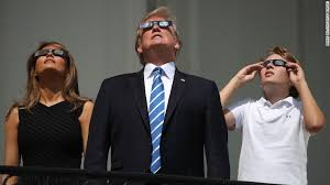 Can You Go Blind By Looking At The Sun Yes Donald Trump Really Did Look Into The Sky During The Solar