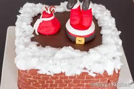 santa down the chimney cake roxy u0027s kitchen