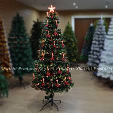 led fibre optic christmas tree pre lit xmas decorative tree 6064