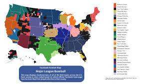 Map Of Oklahoma Counties Here Is Every U S County U0027s Favorite Baseball Team According To
