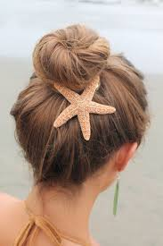 starfish hair clip baja starfish hair clip barrette or pinch clip nautical hairclip