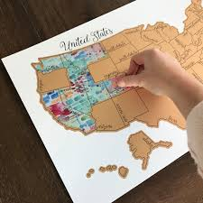 Personalized World Map by Personalized Teal Tinted Travels United States Of America Usa