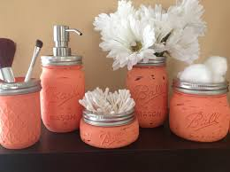 Bathroom Ideas Diy Love The Color And Love The Idea Of A Hand Painted Mason Jar