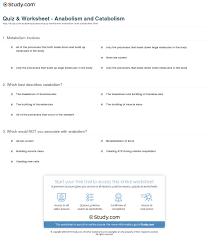 quiz u0026 worksheet anabolism and catabolism study com