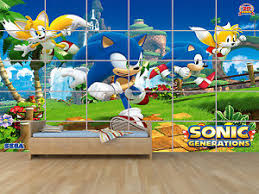 poster chambre sonic geant poster chambre enfants room ebay