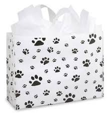 paw print tissue paper large paw print gift bag