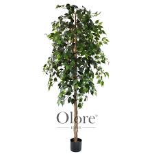 artificial ficus tree green 6ft indoor artificial tree by olore