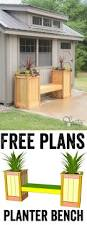 planter bench plans 30 creative diy wood and pallet planter boxes to style up your