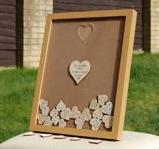 personalised wedding guest book alternative light wood effect