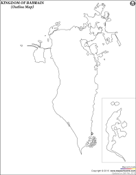 Blank Map Of Spain by Blank Map Of Bahrain Bahrain Outline Map