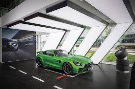 mercedes showroom mercedes amg redesigns showroom in hometown comes with racing
