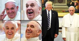 Pope Meme - pope francis was so unamused to meet the trumps their pic turned