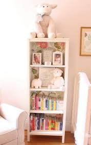 bookcase for baby room target bookshelf lined with wallpaper mc pinterest target