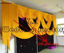 Wedding Backdrop Gold Online Shop Sale Ice Silk Swag Drape Fit For Wedding Backdrop