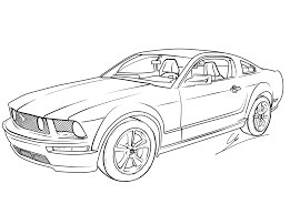 kid car drawing free mustang coloring pages with printable mustang coloring pages