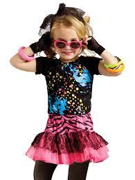 Rockstar Halloween Costumes Girls 80s Party Pop Rock Star Toddler Fancy Dress Halloween