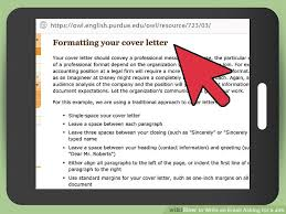 how to write an email asking for a job with pictures wikihow