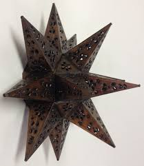 Tin Sconce Tin Moravian Star Wall Sconce Custom Metal Lighting Home Decor