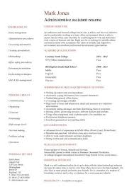 Examples Of Administrative Assistant Resumes Free Administrative Assistant Resume Resume Template And