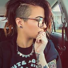 hair cuts that are shaved on both sides and long on the top for women girrlscout photo pinteres
