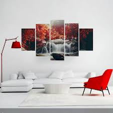 art painting for home decoration 5 cascade mangrove waterfall abstract canvas wall painting picture