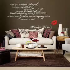 Wall Decal Quotes For Bedroom by Aliexpress Com Buy Marilyn Monroe Wall Decals Art Home Living