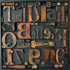 letter press memory blocks vintage letterpress montage by home