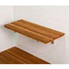 Bath Shower Stool Bathroom Teak Bath Tray With Teak Shower Shelf