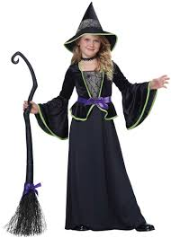 girls classic black witch costume costume craze