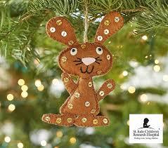 st jude bunny ornament pottery barn