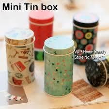 Decorative Desk Accessories 32 Pcs Lot Storage Pencil Holder Tin Box For Clips Eraser Desk