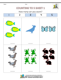 preschool counting worksheets counting to 5