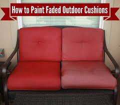 How To Spray Paint Patio Furniture How To Freshen Up Paint Your Outdoor Cushions Denise Designed