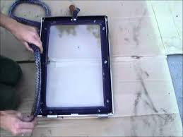 how to replace a wood stove door gasket youtube