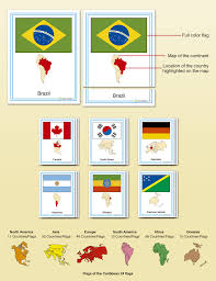 European Countries Flag Flags Of The World Complete Set Montessori Research U0026 Development