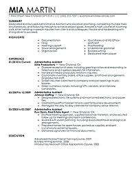 resume templates for assistant administrative resume templates collaborativenation