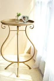 vintage gold side table dipamkar vintage gold metal coffee table side garden table plant