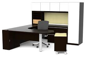 Office Desk With Cabinets Make A Simple Corner L Shaped Office Desk Home Design Ideas