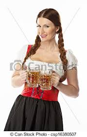 stock photography of woman in traditional bavarian dress young