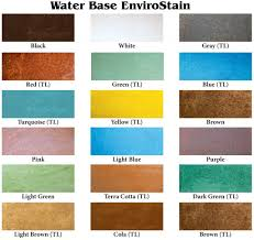 smith paint products water based concrete stains color chart shows