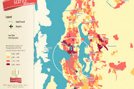 Seattle Districts Map by Where The Young People Are Living In The Seattle Area Curbed Seattle